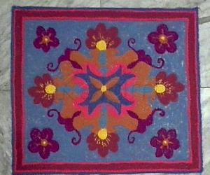 Designer mat rangoli without diya in light