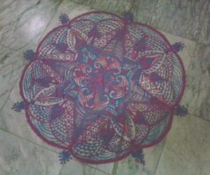 Rangoli: freehand rangoli for margazhi