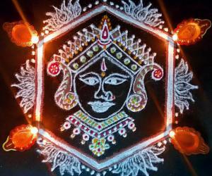 Vasanth Panchami Special Pooja Kolam