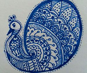 Freehand Peacock design