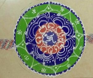 Rangoli: Rakshabandan Special Kolam