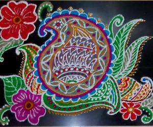 Paisley Design Rangoli - Margazhi Collections