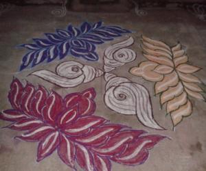 Rangoli: sangu lotus kolam