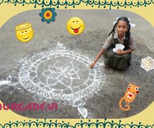 Rangoli: my daughter's special Rangoli