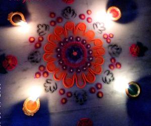 Rangoli: Karthigai Deepam special kolam 1