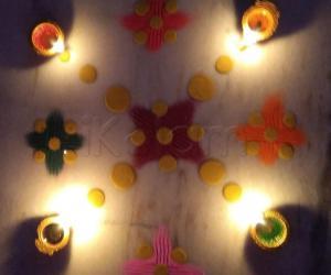 Karthigai Deepam special kolam 5
