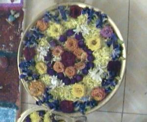 Rangoli: dd first floating flower decoration
