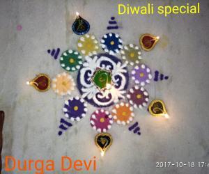 Diwali special rangoli 2 by DD