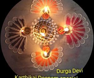 Rangoli: Karthigai Deepam special kolam 6