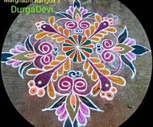 Rangoli: Mandala Design Marghazhi Rangoli 3