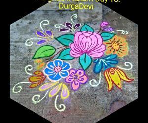 Rangoli: Marghazhi kolam day 18