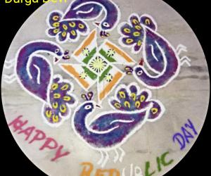 Republic Day special Kolam 2