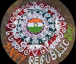 Rangoli: REPUBLIC DAY SPECIAL SANSKAR BARATHI RANGOLI