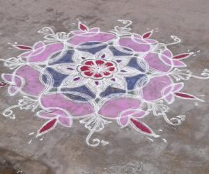 Rangoli: my colour kolam
