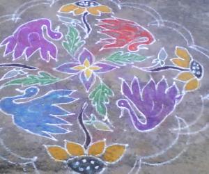 swan & flower