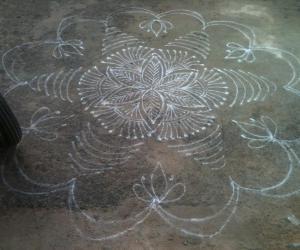 Rangoli: lines rangoli