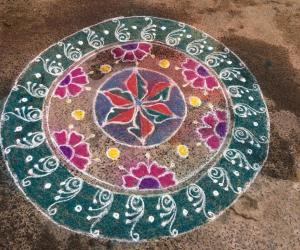 Rangoli: Kolam for small function