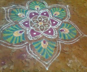 Rangoli: rangoli with light and dark shades