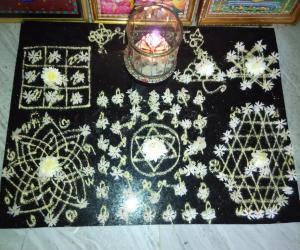 Rangoli: divine aadi