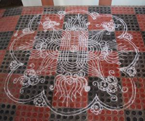 Simple Padi Kolam