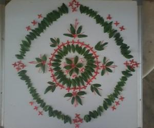 Rangoli: Navratri day 4..