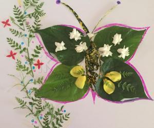 Rangoli: Simple flower design...
