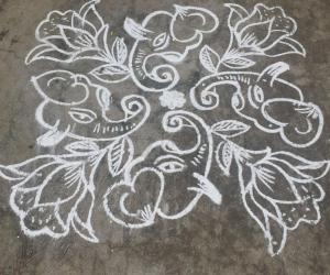 Rangoli: Happy durgaastami....