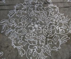 Rangoli: Bunnies...