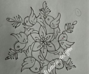 Rangoli: Simple birds rangoli...