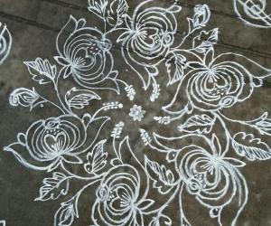 Rangoli: Different roses...