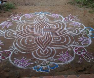 Rangoli: Friday Special swastick kolam