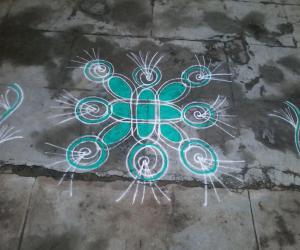 Rangoli: Pistha green kolam!