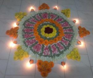 Rangoli: Happy onam friends!