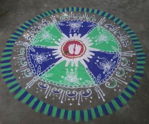 Krishna Jayanthi kolam!