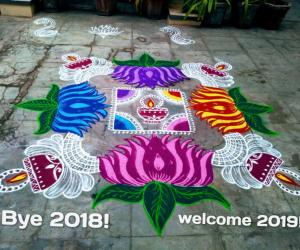 Margazhi kolam day-17! Happy new year friends!