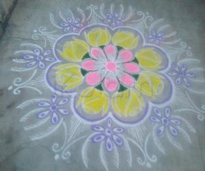 Soft color rangoli!!