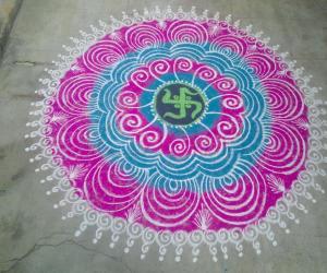 Rangoli: my kolam!