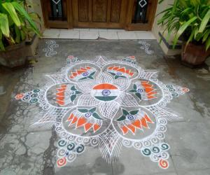 Independence day kolam!