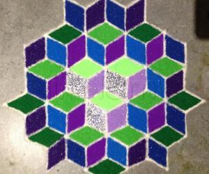 Cube Kolam