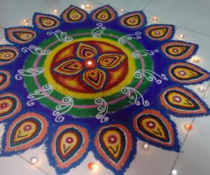 Colorful Rangoli -  Made of salt