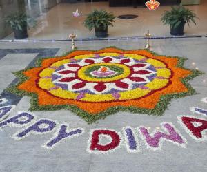 DIWALI FLOWER Rangoli