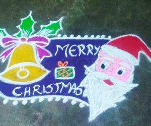 Christmas rangoli