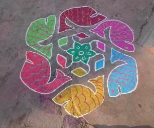 Rangoli: Margazhi kolam
