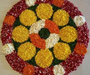 Rangoli: Onam Floral designs-Onam Pookalam