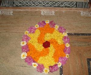 Rangoli: Onam 2012-Day 1