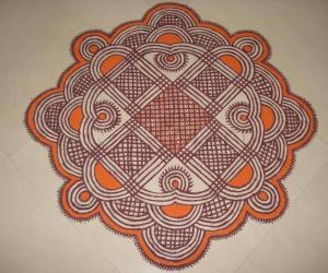 Colour Padi Kolam