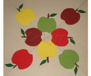 Rangoli: Apple Rangoli for Doctor's Day