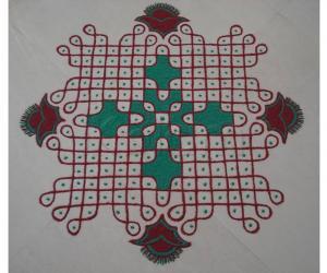 Rangoli:  Colour Chikku  Kolam