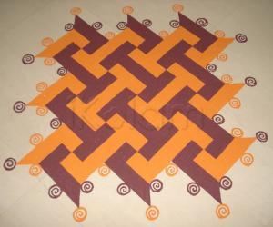 Rangoli: Colour Swastik Kolam