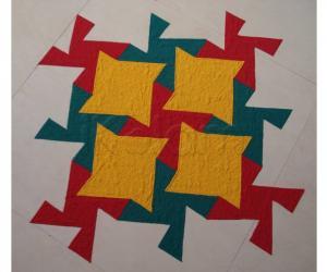 Rangoli: Puzzle Kolam -Floor Version